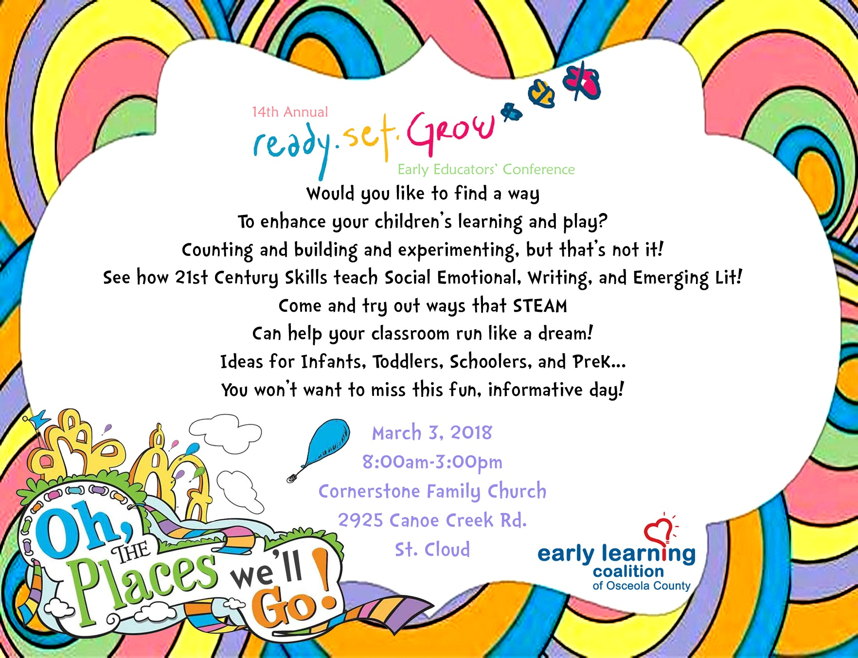 Save The Date Ready Set Grow 2018 Early Learning Coalition